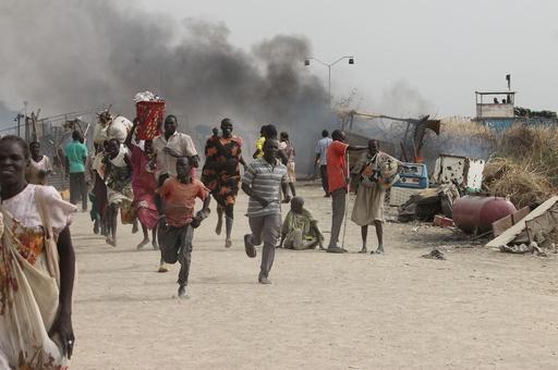 国連基地内の戦闘で18人死亡、南スーダン