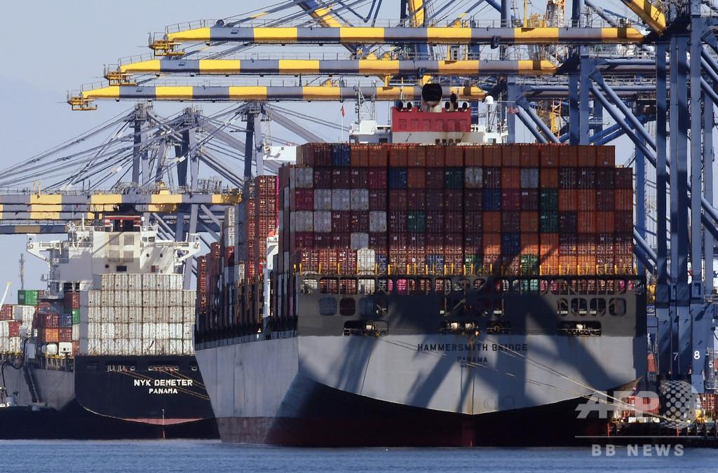 米貿易赤字、過去10年で最高 輸入増大が押し上げ