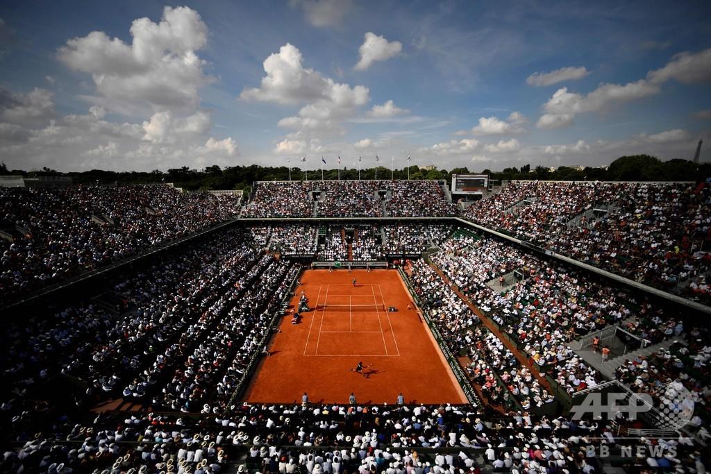 全仏テニス、1日の観客数は最大5000人 当初計画の4分の1