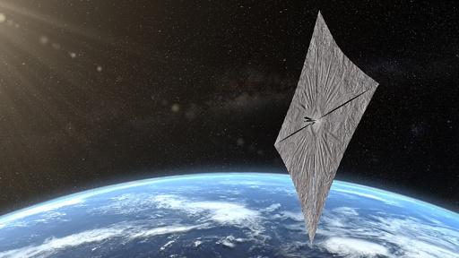 太陽光を推進力に変える「帆」、宇宙で展開成功 米団体が製造