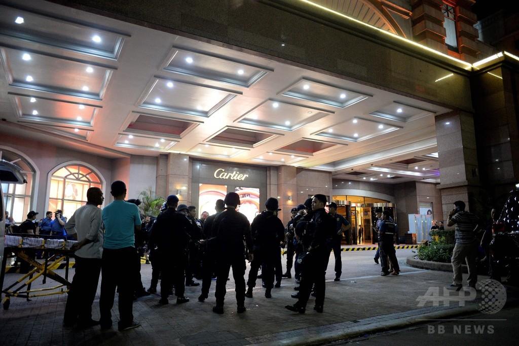 マニラのカジノで発砲、銃によるけが人なし 容疑者殺害