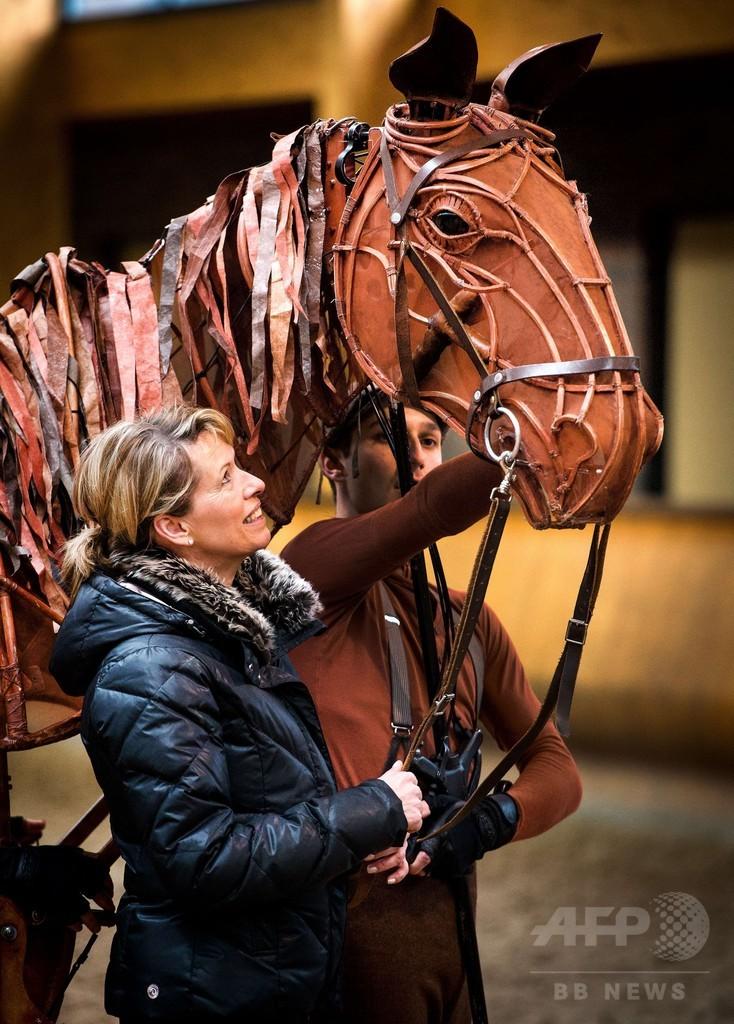 「戦火の馬」のジョーイ、馬場馬術五輪メダリストと対面