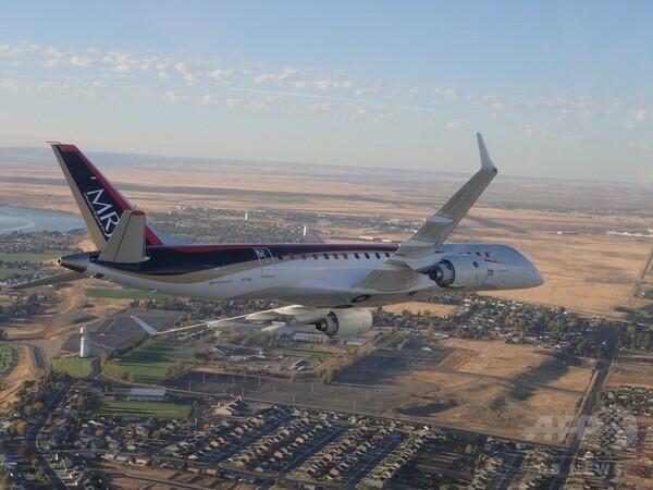 初の国産ジェット「MRJ」、米国に到着 挑戦3回目で成功