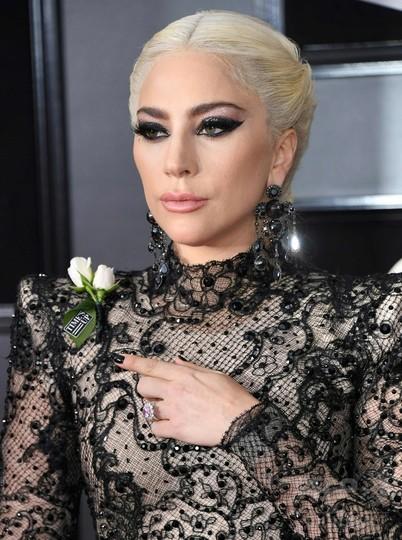 グラミー賞授賞式、胸に白バラ 「ジェンダー平等」への支持表明