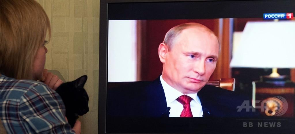 クリミア編入「核戦力の用意あった」、プーチン露大統領
