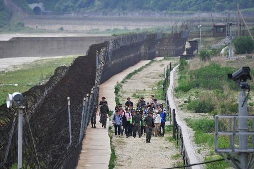 非武装地帯でウオーキングツアー 韓国の高城