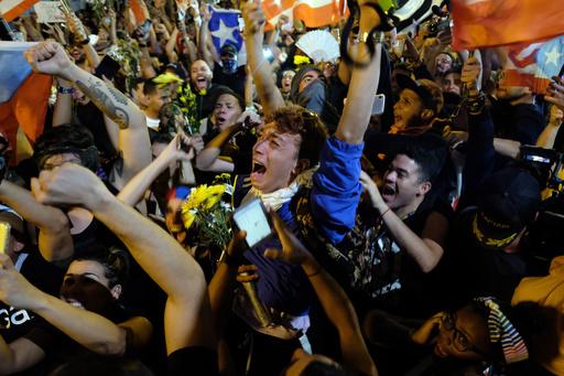 米領プエルトリコ知事、大規模デモ受け辞任発表