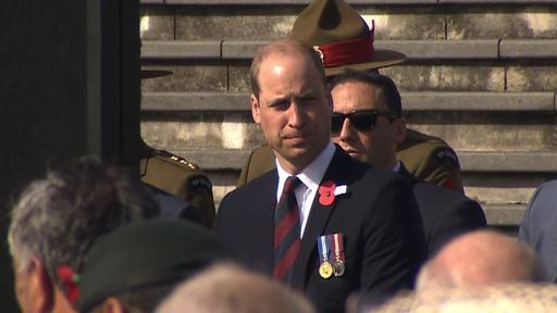 動画:英ウィリアム王子、アンザック・デーでNZ訪問