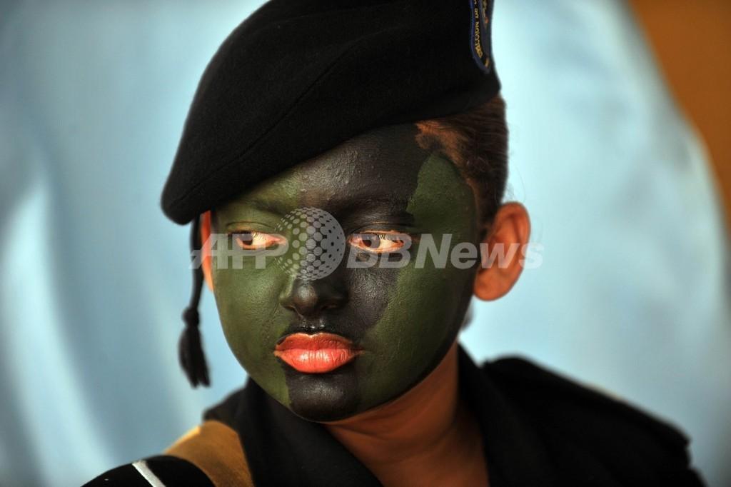 女性特殊部隊員の姿も、薬物対策訓練センターの定礎式 ニカラグア