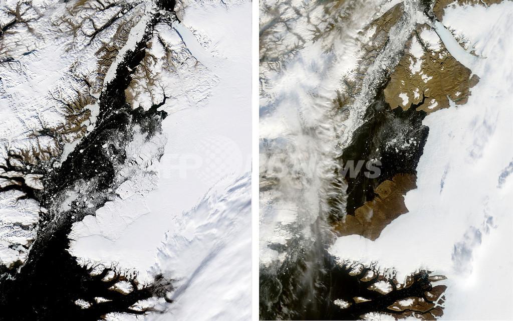グリーンランドの氷河縮小、NASA観測