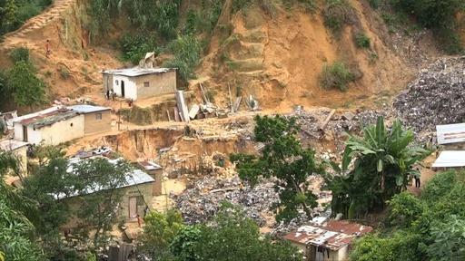 動画:コンゴ民主共和国の首都キンシャサで土砂崩れ、44人死亡