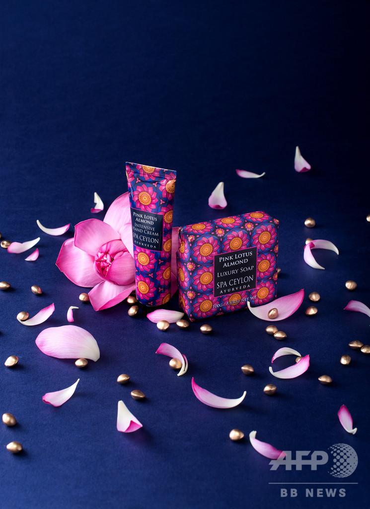 「スパセイロン」ピンクロータスが香るハンドクリーム&ソープ