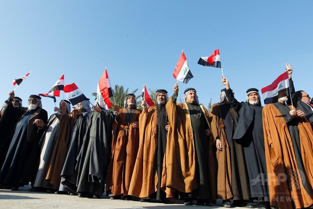 イラク首都のデモで7人死亡、「グリーンゾーン」にロケット弾