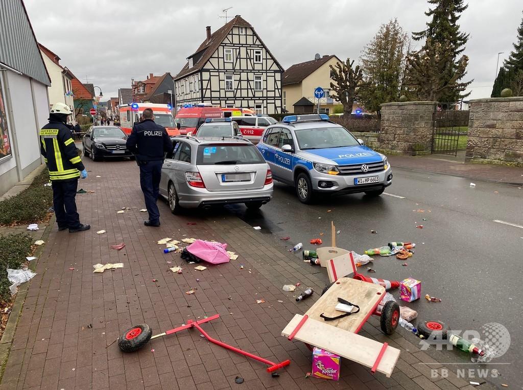 独カーニバルで車突入、30人負傷 運転手拘束