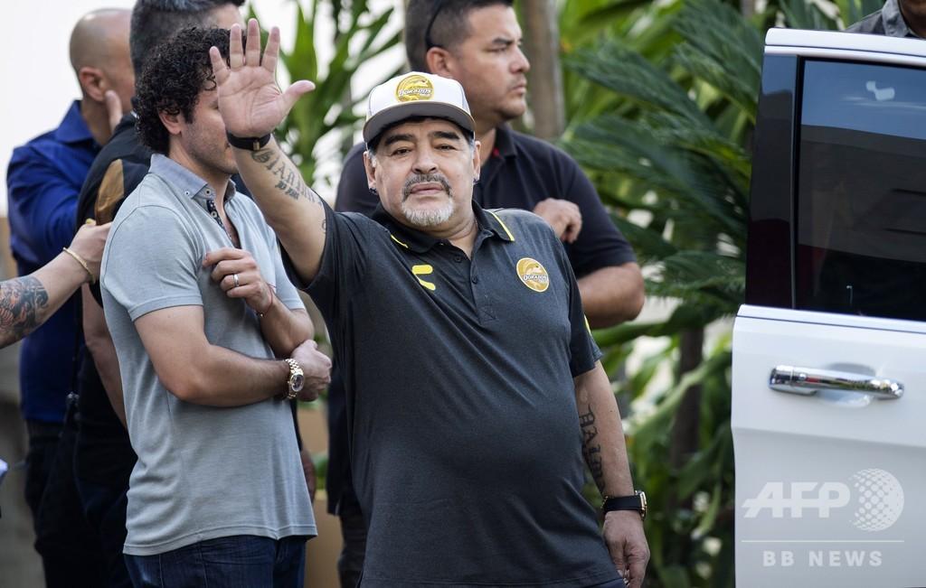 マラドーナ氏がメキシコ2部クラブの監督辞任、健康上の理由で