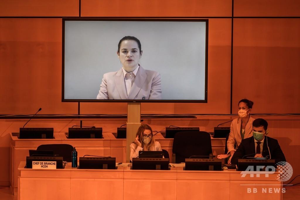 ベラルーシ大使、反政権派の動画停止を要求 国連人権理事会