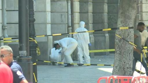 動画:チュニジア大統領、病院に搬送 首都では連続自爆攻撃 攻撃現場の映像
