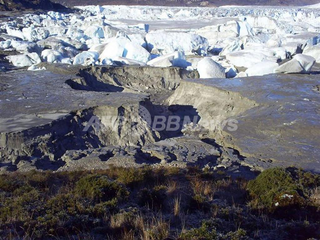 チリのパタゴニア地方、湖が突然消滅