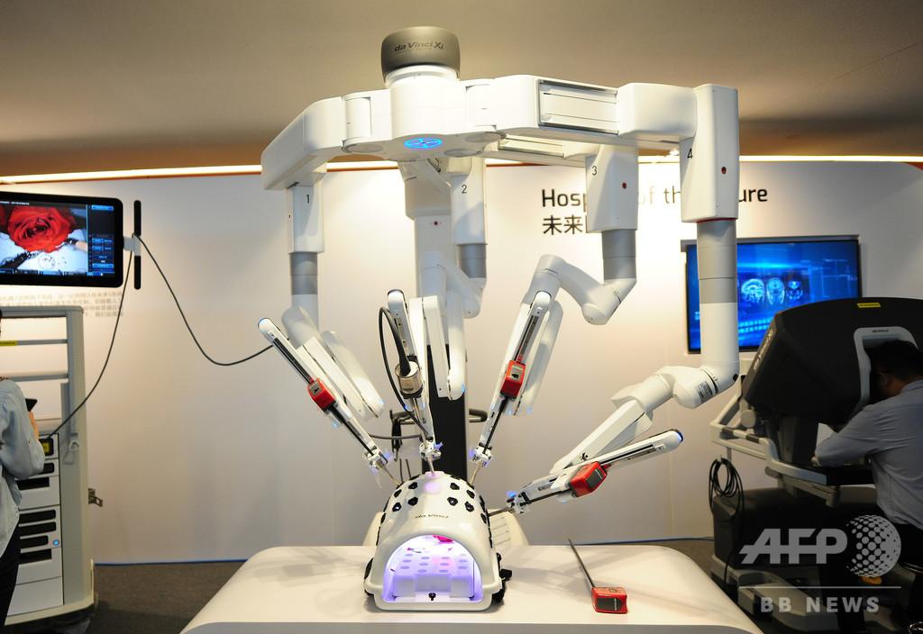 ロボットの遠隔操作手術で肺がん切除に成功 中国・アモイ