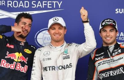 ロズベルグがポール獲得、ハミルトンはクラッシュで10番手 ヨーロッパGP