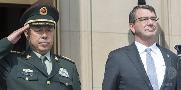 米国防長官、中国軍制服組トップに埋め立て中止求める