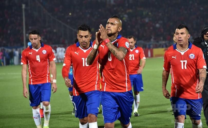 チリが5発大勝、グループ首位で8強 コパ・アメリカ