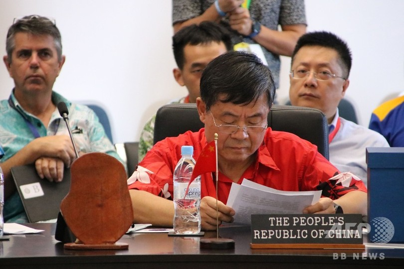 ナウル大統領、中国特使と緊迫したやりとり 「横柄」な振る舞い非難