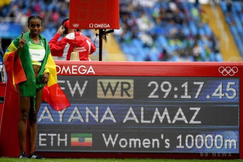 エチオピアのアヤナが世界新、女子1万メートルで金メダル獲得