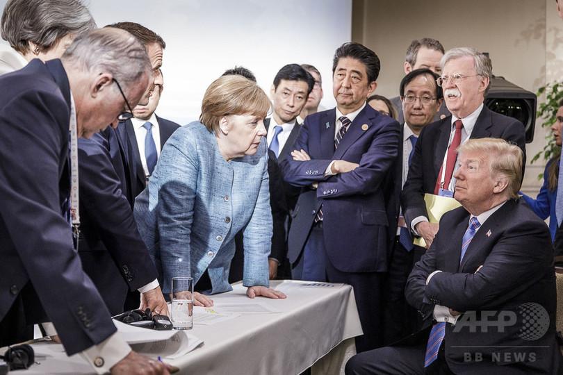 G7サミット、各国のイメージ戦略で繰り広げられた写真バトル