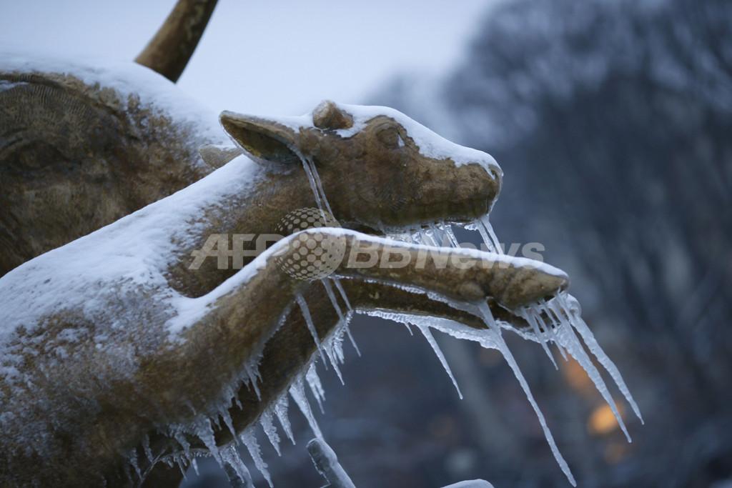 欧州西部に寒波や強風、事故が多発