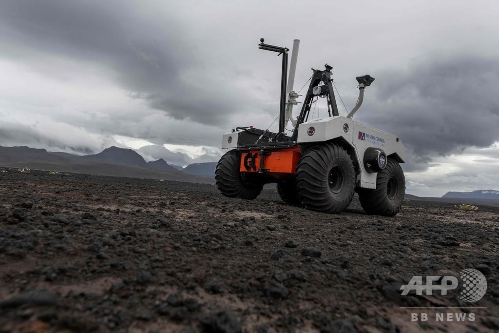火星の代役にアイスランド、溶岩原で探査車試験 NASA