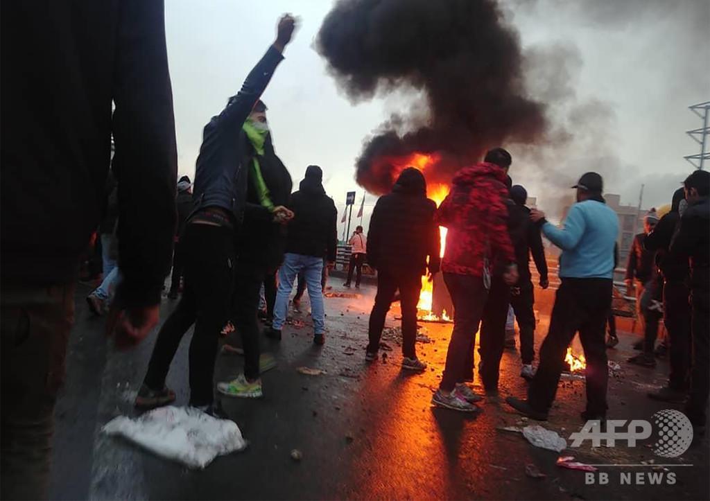 イラン抗議デモ、弾圧による死者208人に アムネスティ発表