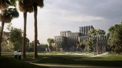 ザハ・ハディド氏、カンボジアの資料センターの新デザイン発表