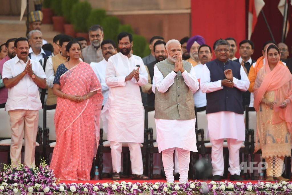 インドのモディ首相、2期目スタート 総選挙で歴史的勝利