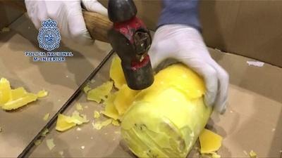 動画:パイナップルからコカイン発見、745キロ押収 ポルトガル