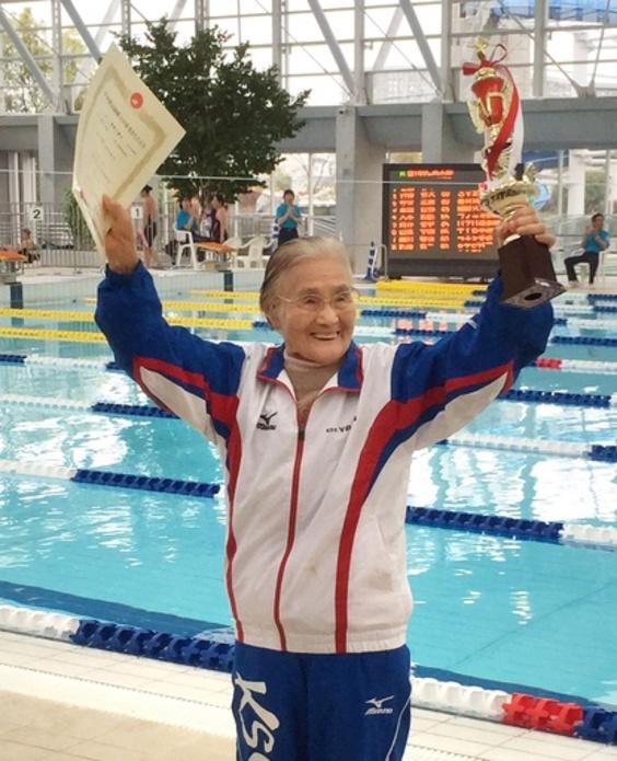 今年101歳、1500メートル完泳で世界記録の日本人女性