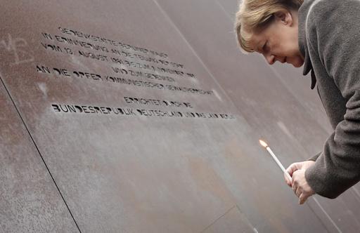 動画:ベルリンの壁崩壊から30年、記念式典にメルケル首相ら