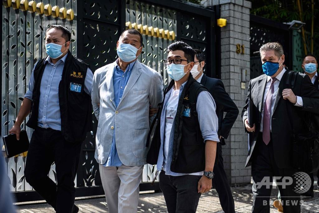 香港メディア界大物の逮捕、揺らぐ言論の自由
