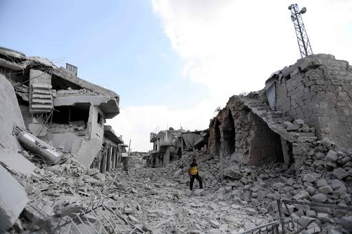 シリア北西部、政権軍の奪還作戦で民間人含む45人死亡