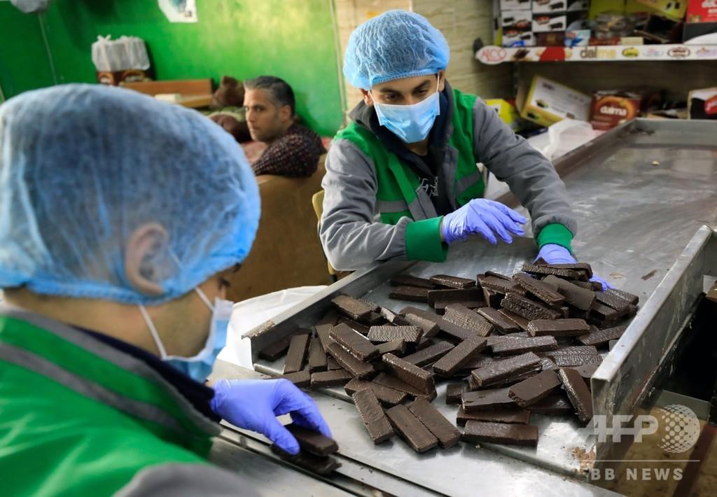 住民に希望もたらすガザのチョコレート製品