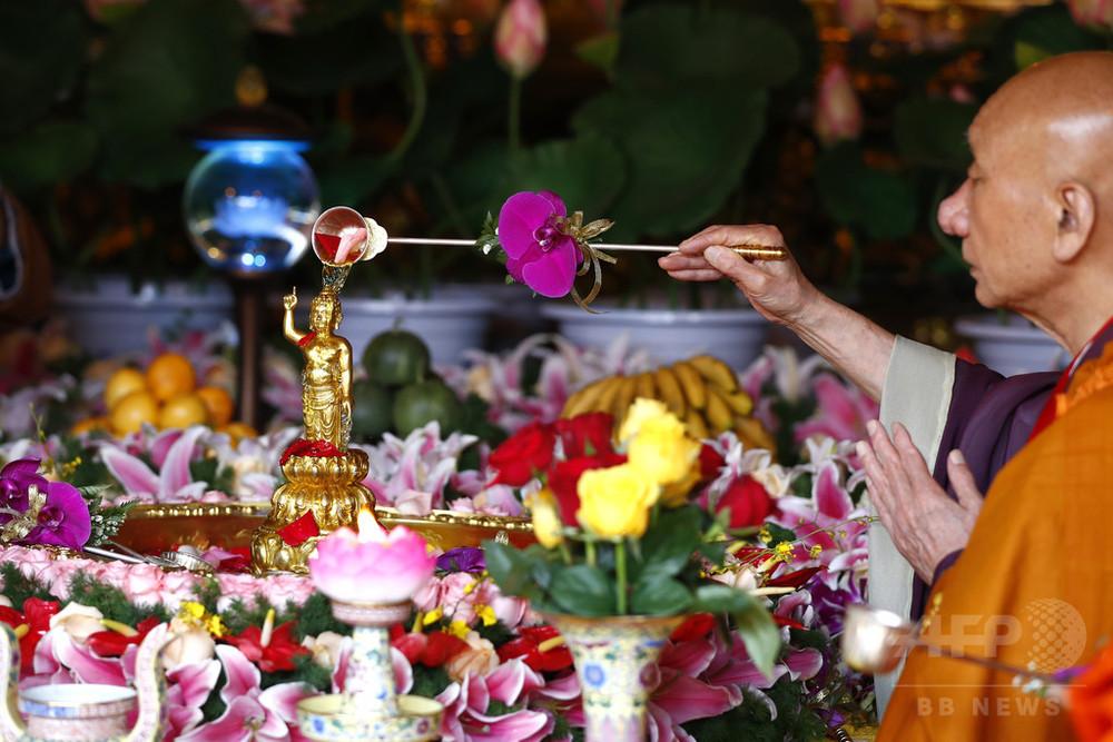北京で釈迦の誕生祝う 中国三大仏教界