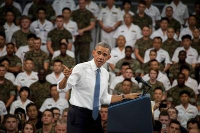 オバマ米大統領、米軍岩国基地を訪問