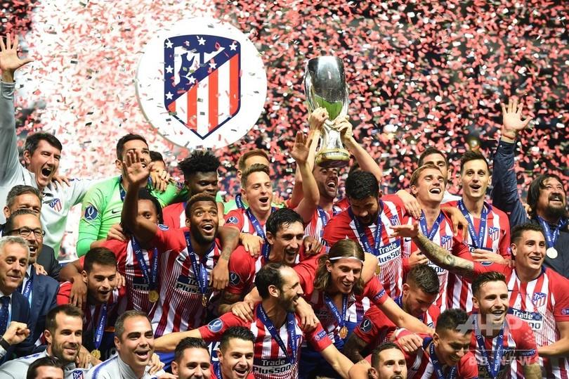 アトレティコがUEFAスーパーカップ制す、ロペテギ新体制のレアルに逆転勝利