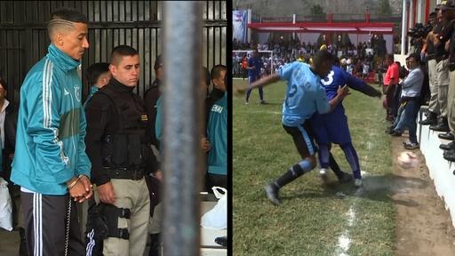 動画:刑務所間でサッカーW杯開催、受刑者らが「出場」 ペルー