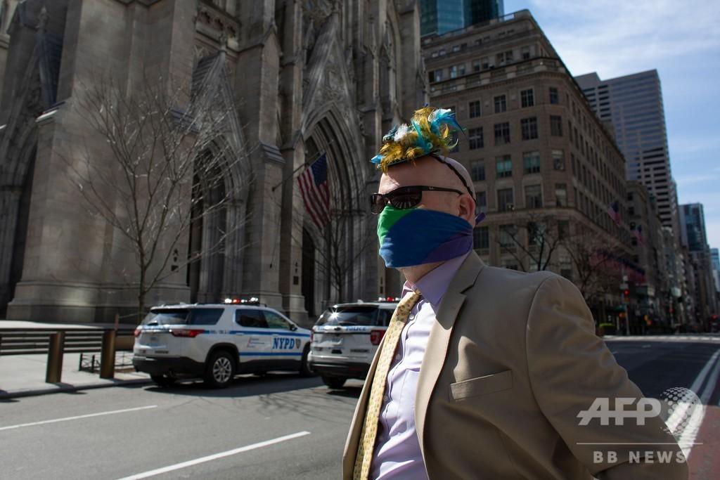 NY州「最悪脱した」と知事 コロナ死者、1万人超える