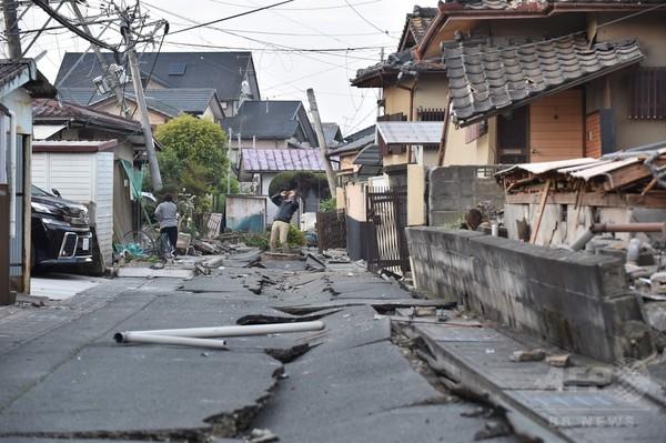 AFPカメラマンが捉えた熊本・益城町、余震続く