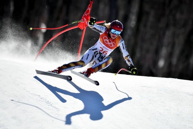 スノーボーダーがアルペン女子スーパー大回転で金、冬季五輪最大級の衝撃